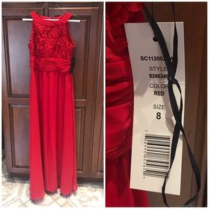 Beautiful red gown NWT